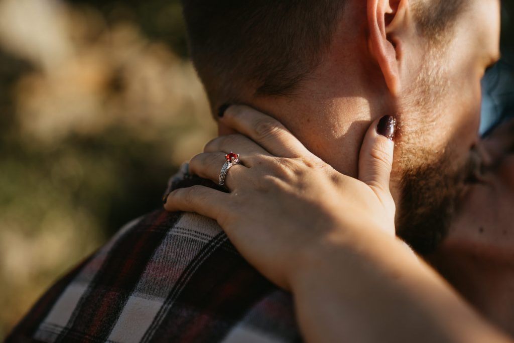I caught a photo of Elise's engagement ring in the sunlight as she kissed him. Talk about the best way to spend your Sunday at sunset