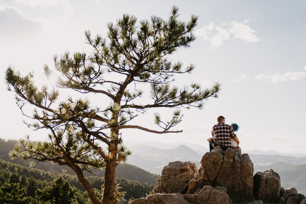 First I took them up to a less crowded point at Lost Gulch Overlook and I had them sit on a rock and cuddle up and talk about their day