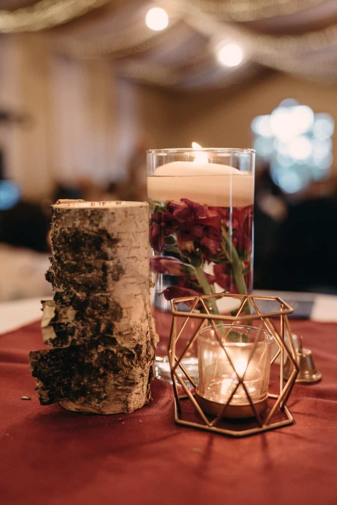 Wedding guest table details