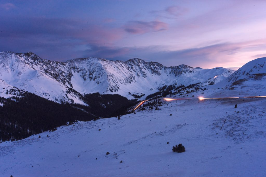 Loveland Pass is without a doubt one of the best and easiest places to elope in Colorado. This photo was captured right at sunset, and you can see Arapahoe Basin peaking out of the corner of the frame