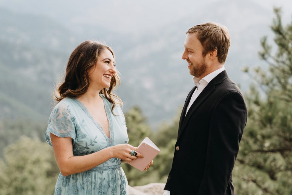 Madeline and Shaun reached out to me and asked me how to elope in Colorado. They chose Artist Point in Boulder, Colorado as their elopement spot and said their vows a view hours before sunset