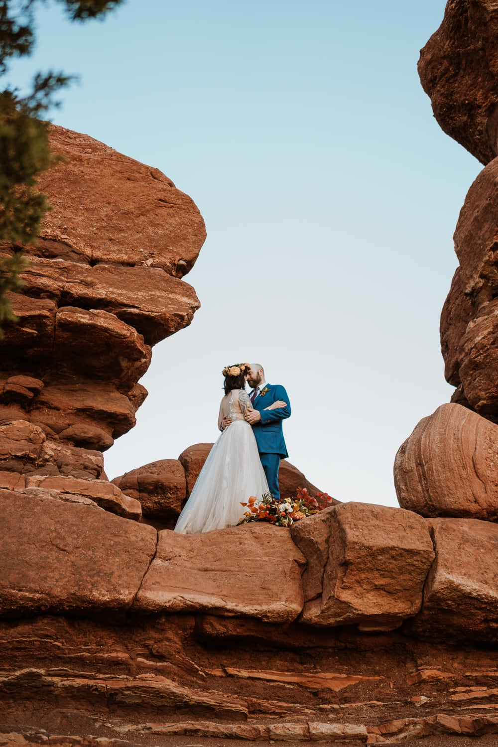 This bride and groom reached out about how to plan an elopement and we picked Garden of the Gods for their ceremony location