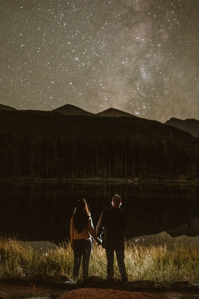 Still looking for the best place to elope in Colorado? How about under the stars in Sprague Lake, Rocky Mountain National Park