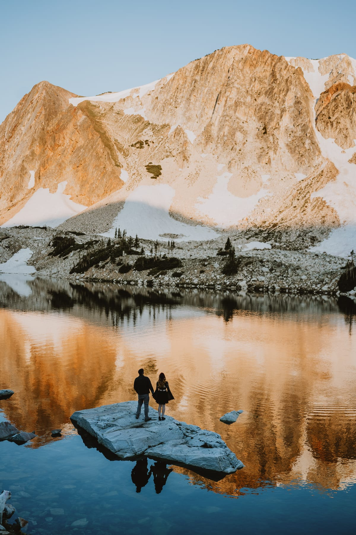 Sunrise elopement like this is proof of why the Rocky mountains and Colorado is your best bet for your adventurous mountain elopement