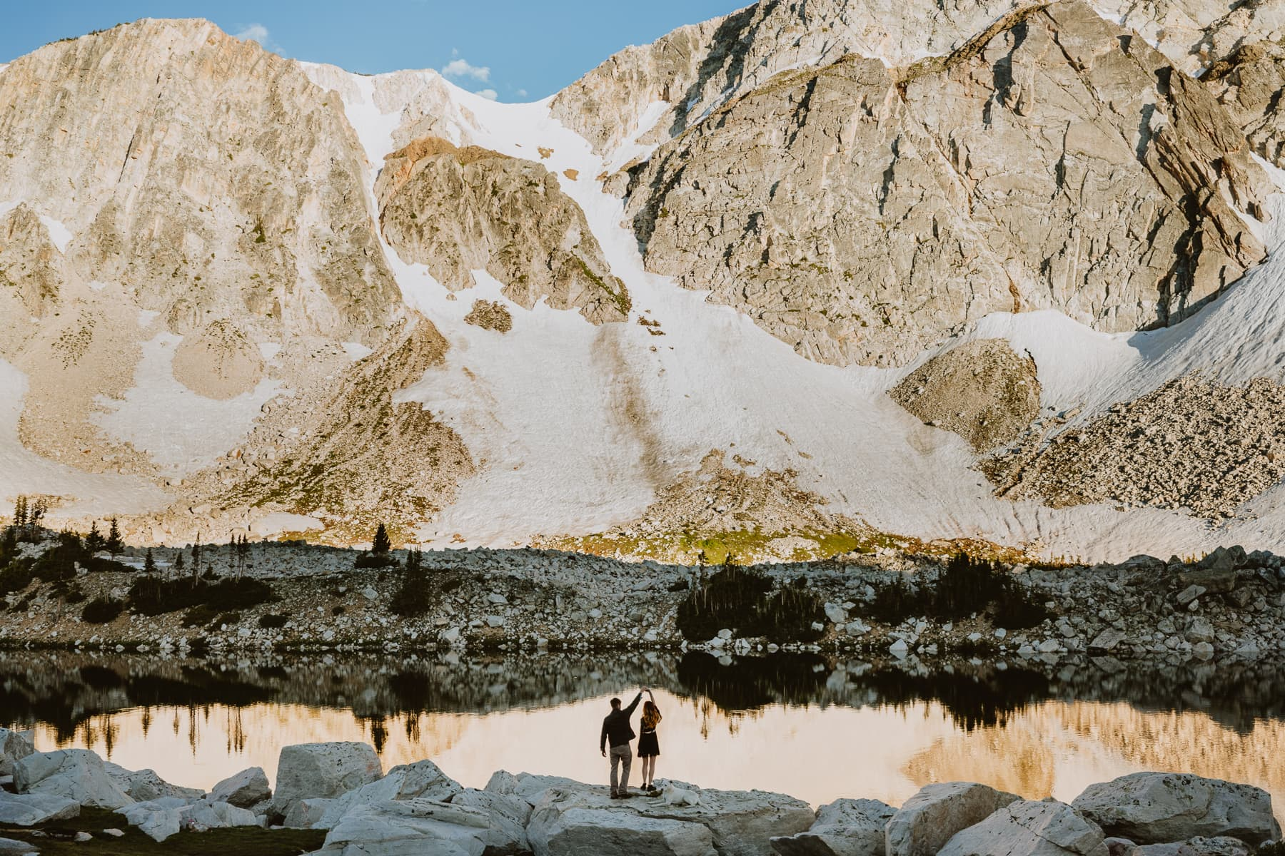 One of the best places to elope near Colorado is this reflective lake