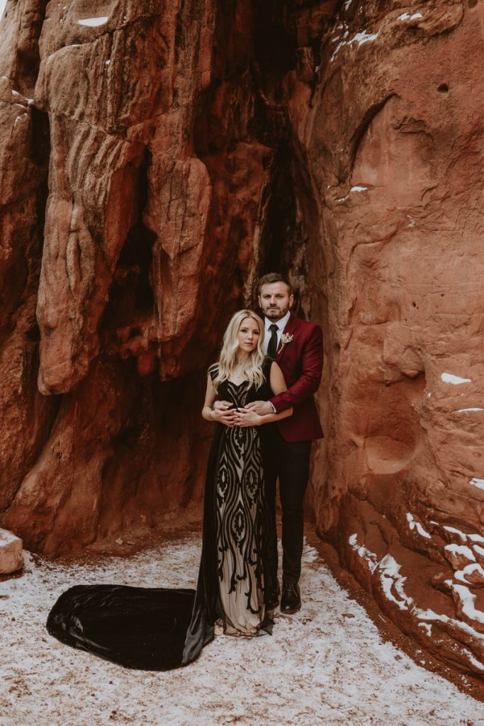 Formal Garden of the Gods wedding photos of Alesya and Iosif - the bride and groom