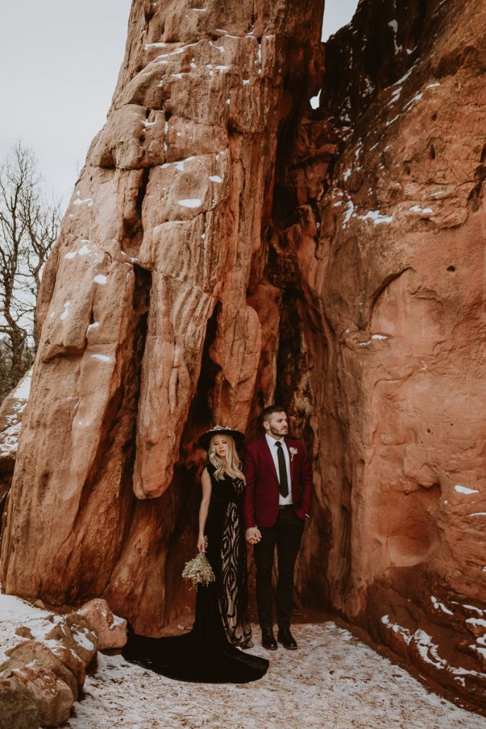Dramatic and adventurous Garden of the Gods wedding photos of Alesya and Iosif - the bride and groom