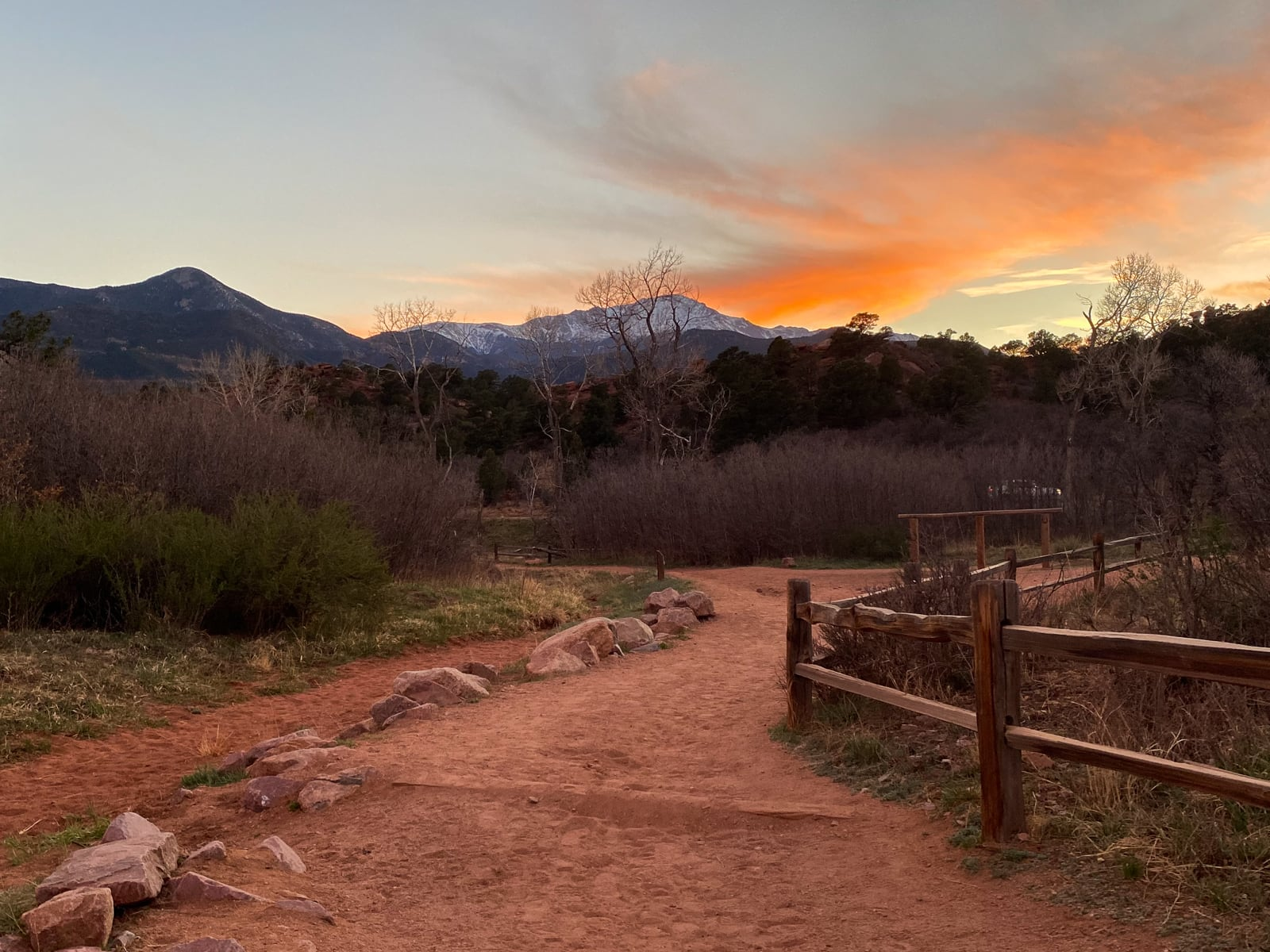 Sunset photo of Scotsman Picnic Area in May of 2021
