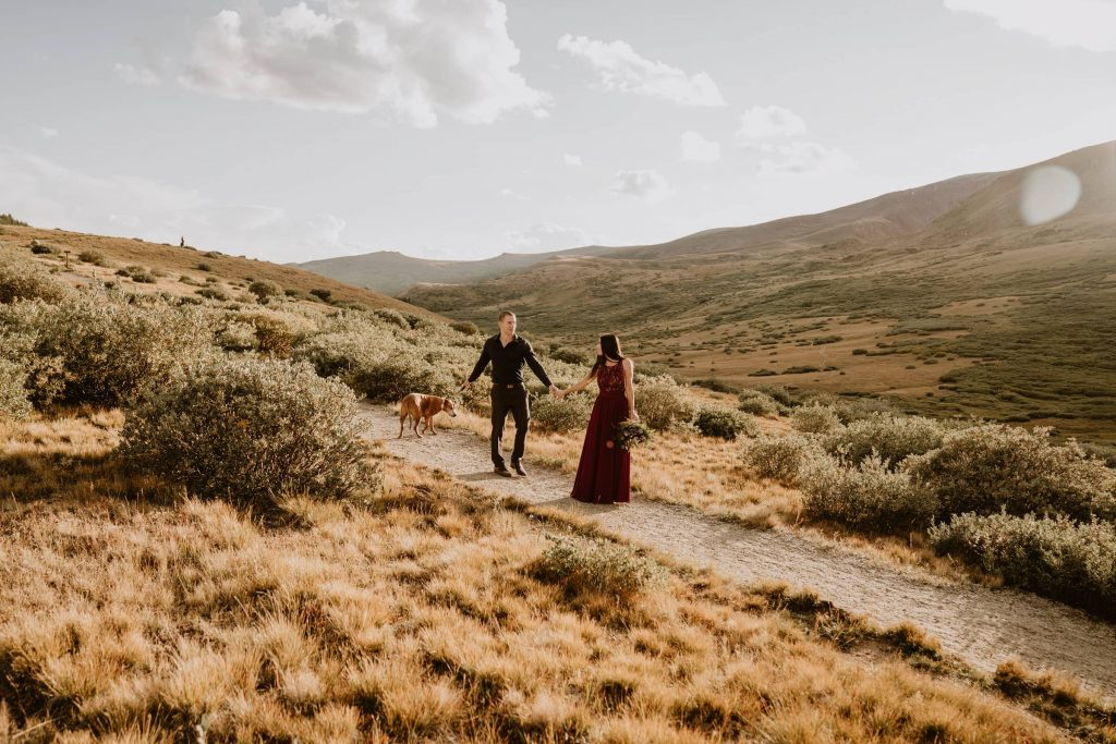 I walked Misty and Cameron through their elopement checklist, and they chose to elope at Guanella Pass.