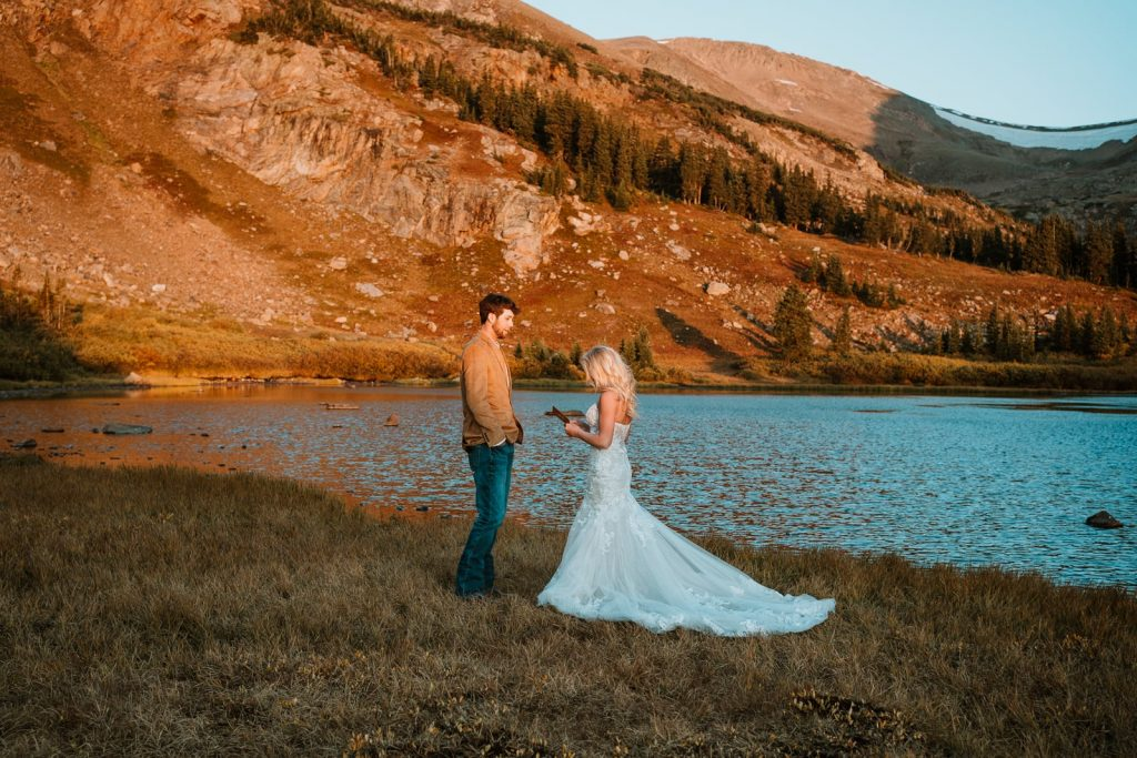 Chelsy & Zack eloped on a secluded mountain top near Breckenridge at sunrise. This is why you hire a professional Colorado elopement photographer that also likes to explore!