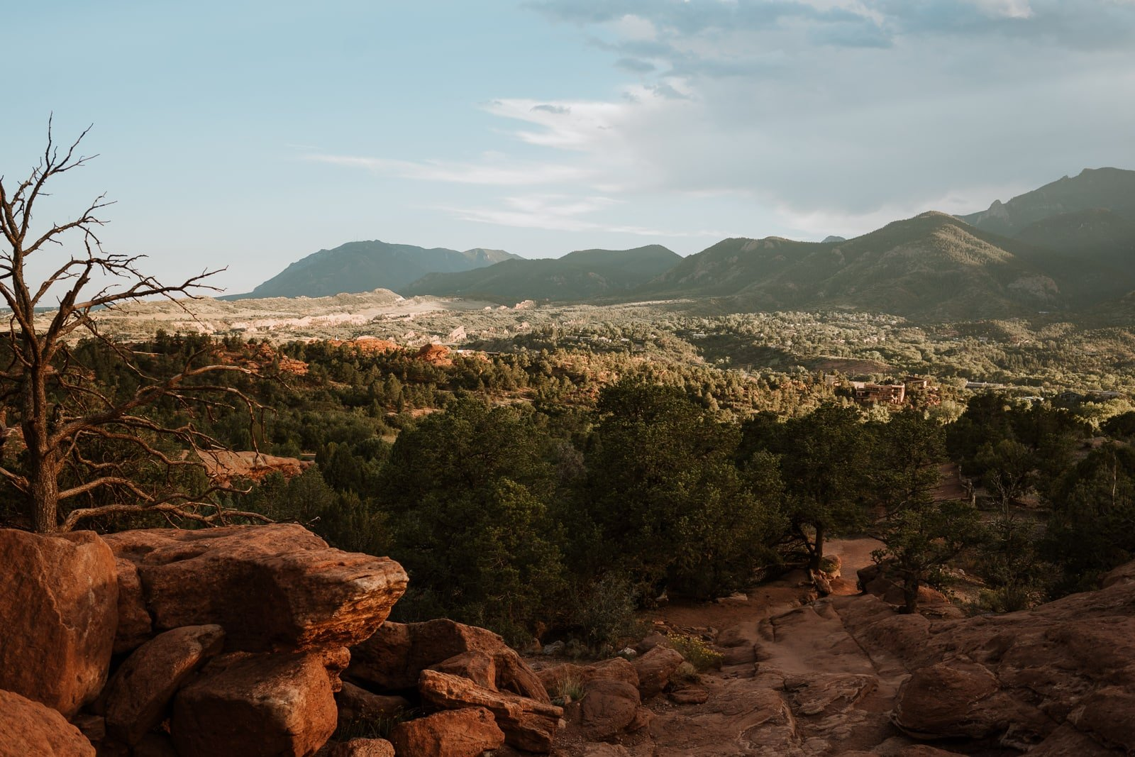 Landscape photo of sunset from Garden of the Gods, Colorado