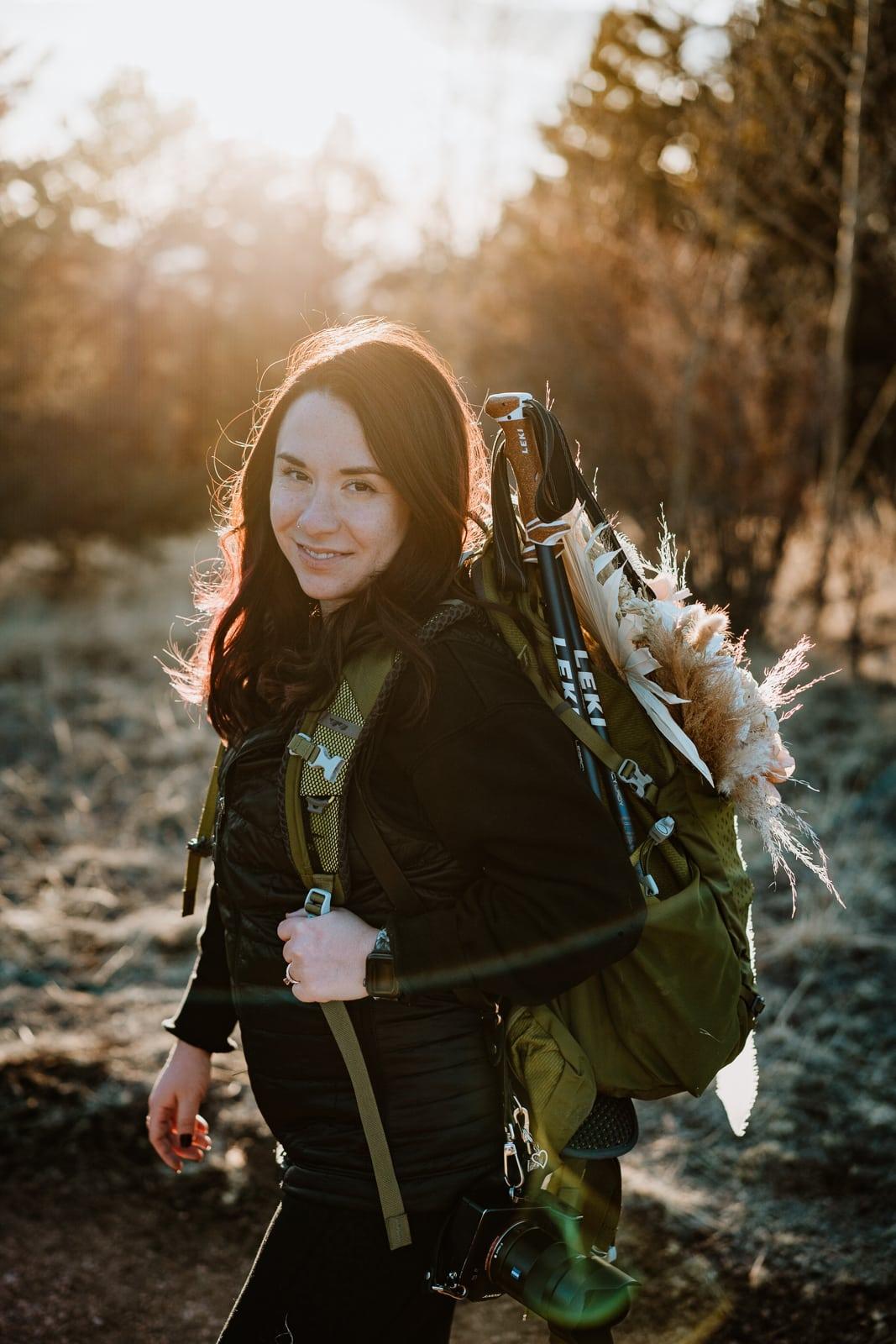 Self portrait of Colorado elopement photographer, Paige Weber